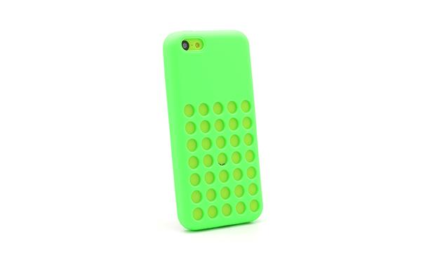 Silicon hole za iphone 5c (zelena)